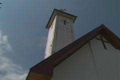 Steeple of church in Toraja Stock Footage