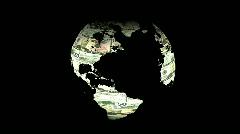 Money Globe Stock Footage
