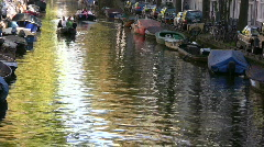 Sunday afternoon entertainment in the city of Amsterdam. Stock Footage