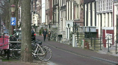 People walking in Amsterdam Stock Footage