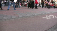 People shopping in Amsterdam Stock Footage
