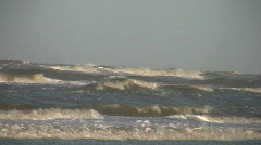 Close-up of waves rolling onto the beach - stock footage