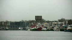 Fishing vessels in Port Stock Footage