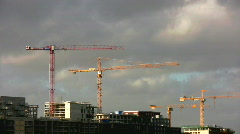 Cloudscape with construction in the foreground - stock footage