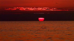 Sunset on the Florida gulf coast Stock Footage