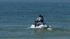 Jet ski in the Florida gulf - stock footage