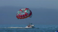 parasailing in the Florida gulf - stock footage