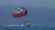 Parasailing in the Florida gulf Stock Footage
