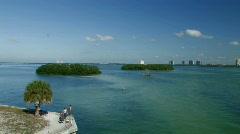 Men fishing on the Florida gulf Stock Footage