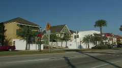 Early morning on Marco Avenue St. Augustine Stock Footage