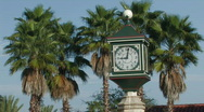 Stock Video Footage of Clock at historic St. Augustine visitors area