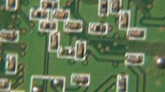 Macro Footage Computer Circuit Boards 8 Stock Footage