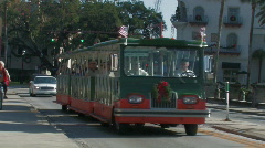 Tourists ride the trolley  Stock Footage