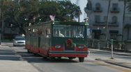 Stock Video Footage of Tourists ride the trolley