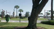 City plaza in St. Augustine, Fl Stock Footage