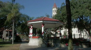 Stock Video Footage of City plaza Gazebo in St. Augustine