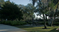 Huguenot Cemetery in St. Augustine Stock Footage