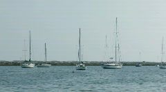Stock Video Footage of Yaughts in the St. Augustine marina