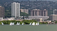 Stock Video Footage of Sailboats Pearl Harbor Hawaii HD