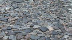 Stone street in Savanah GA Stock Footage