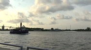Stock Video Footage of tugboat in channel Savanah GA
