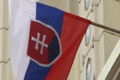 Closeup of Slovak flag Stock Footage