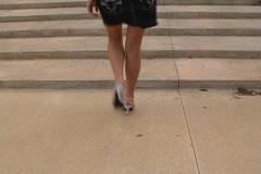 Luscious Female Legs Stock Footage