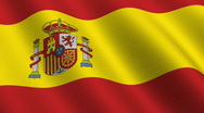 Stock Video Footage of Flag of Spain