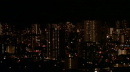 Stock Video Footage of Honolulu night close HD
