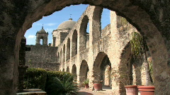 Mission San Jose courtyard HD Stock Footage