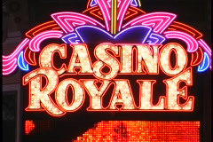 Casino Royale neon sign in Vegas Stock Footage