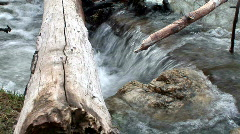 Angeles National Forest- 2 shot trans. of mini waterfall in stream. Stock Footage