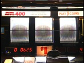 Vegas Slot Machine hits triple diamond jackpot Stock Footage