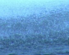 Water drops dripping on water in bad weather Stock Footage