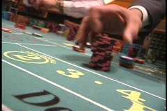 Craps bets placed on table 2 - stock footage