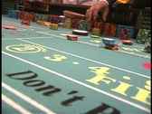 Stock Video Footage of Craps bets placed on table 1