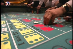Craps bets placed on table 3 Stock Footage
