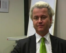 Wilders Geert PVV dutch politician producer of fitna Stock Footage