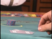 Player has 21 in Blackjack Stock Footage