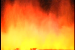 Volcano lava fountain wide shot Stock Footage