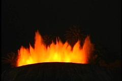 Volcano exploding lava fountain medium shot Stock Footage