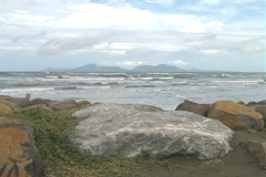 The ocean at Banda Aceh Stock Footage