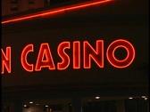 Casino neon sign in Vegas Stock Footage