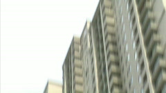 Suicide building jump v1 wide Stock Footage