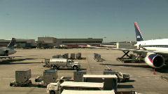 Airport aircraft ramp activity HD Stock Footage