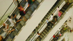 White escalators time-lapse Stock Footage