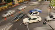 Time-lapse of traffic at Siam Square Stock Footage