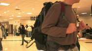 Airport passengers in hall HD Stock Footage