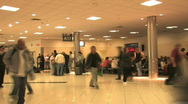 Airport passengers in hall TL FAST HD Stock Footage