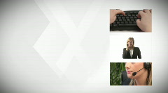 A Montage of a Busineswoman Working Stock Footage